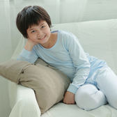 【Anny pepe】男童長袖基本款素面水藍