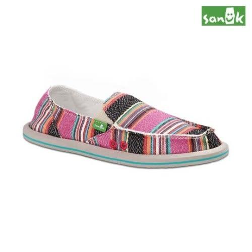 SANUK 經典編織圖騰懶人鞋-女款SWF1002 PPNC(粉色)