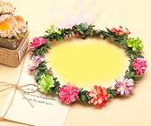 [彩色紙花 人造花髮帶 仿真花花圈 花冠假花環] 婚禮小物 生日禮物 求婚&畢業表演花禮