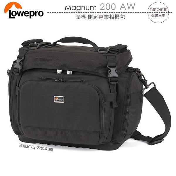《飛翔3C》LOWEPRO 羅普 Magnum 200 AW 摩根 側背專業相機包〔公司貨〕黑色 單眼肩背包
