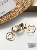 4件套裝金屬戒指女開口關節指環寬面【小檸檬3C】