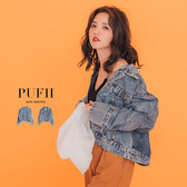 現貨◆PUFII-牛仔外套 個性壓摺造型丹寧牛仔外套-0314 春【CP16032】