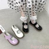 娃娃鞋2020新款ins小皮鞋女復古百搭軟妹厚底魔術貼Lolita大頭娃娃單鞋 交換禮物