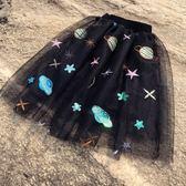女童女寶寶紗裙韓版半身裙蓬蓬裙黑色百搭