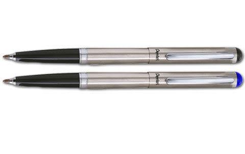 [奇奇文具] 【飛龍 Pentel 鋼珠筆】 飛龍 Pentel R460MG-A/R460 不銹鋼鋼珠筆 (銀夾)
