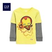 Gap男嬰幼童 Marvel復仇者聯盟系列 英雄印花長袖T恤 510163-黃色
