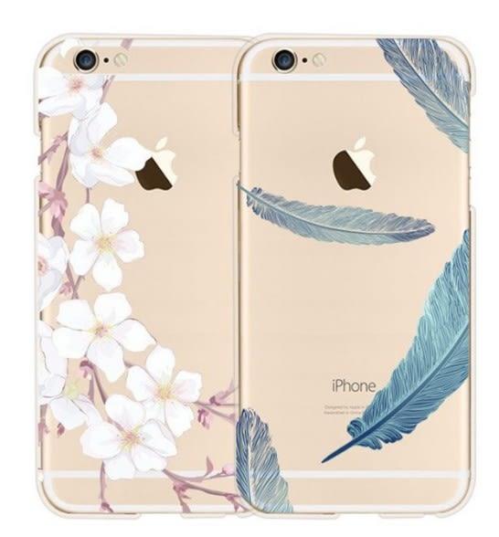 [24hr 火速出貨] 捕夢網 彩繪 羽毛 iphone 6 6s 手機殼 清新 日韓風 透明 彩繪 保護套 軟殼