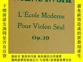 二手書博民逛書店WIENIAWSKI:L École罕見Moderne Pour Violon Seul Op. 10 (維尼奧夫