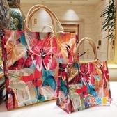 環保袋 ins超火網紅手提旅行收納大袋子防水便攜小包防水包女摺疊購物袋 多款