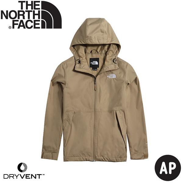 【The North Face 男 DryVent防水外套AP《卡其》】4UDN/防水透氣衝鋒衣/風雨衣/連帽外套