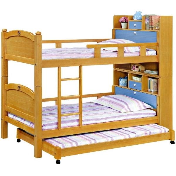 雙層床 AM-300-6 彩伊多功能實木雙層床(不含床墊) 【大眾家居舘】