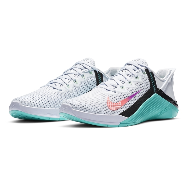 9S-NIKE 訓練鞋Metcon 6 FlyEase 運動 女款 輕量 支撐 穩定 包覆 健身房球鞋 DB3794020 白綠