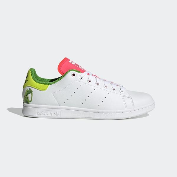 Adidas Stan Smith [GZ3098] 男女鞋 運動 休閒 科米蛙 迪士尼 穿搭 愛迪達 白綠 桃紅