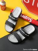 男士夏季涼拖鞋 軟底室外防滑浴室拖鞋 塑料室內居家涼鞋  LannaS