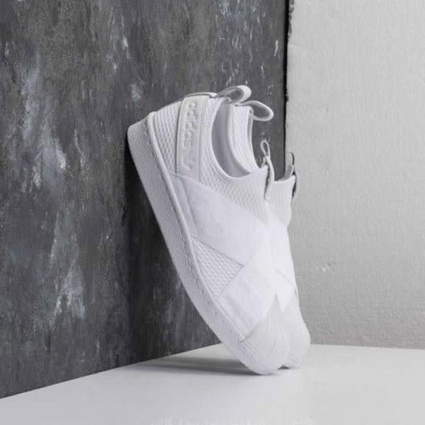 Adidas Superstar Slip On W 全白 繃帶 貝殼頭 女 (布魯克林) 2018/4月 CQ2381
