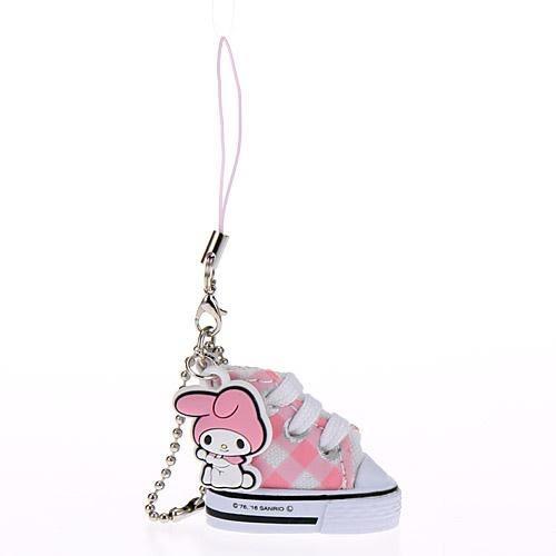 美樂蒂 帆布鞋吊飾 包包吊飾 手機吊飾 Melody 日本正版 該該貝比日本精品 ☆