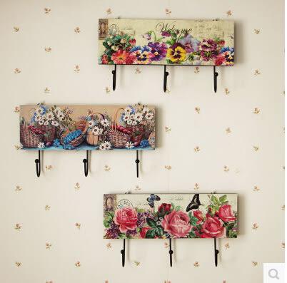 創意掛鉤掛衣鉤服裝店牆上復古裝飾衣帽鉤歐式田園木質衣架掛鉤