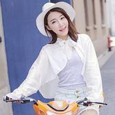 防曬袖套 防曬手套女士開車騎車防曬袖套夏天防紫外線遮陽防曬衣披肩 巴黎春天