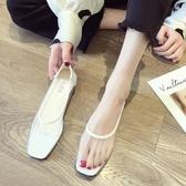 單鞋女2019春款韓版百搭方頭淺口透明性感平底瓢鞋時尚社會豆豆鞋居享優品