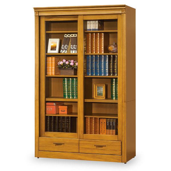 【時尚屋】[MT7]亞緹香檜4尺推門下抽書櫃MT7-615-3免組裝/免運費/書櫃