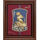 【福鼠如意】金鼠 純金箔畫....21 x26 cm
