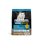 寵物家族-[輸入NT99享9折]紐頓Nutram-T24無穀貓鮭魚1.13KG