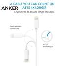 又敗家90cm美國Anker蘋果Lightning傳輸線Apple數據線電源線iPhone充電線iPhone iPad 12 11 X 8 7 SE mini pro air