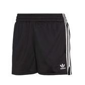 ADIDAS ORIGINALS 3-STRIPES 黑 白logo 運動 短褲 女(布魯克林) CY4763