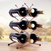 酒架創意歐式紅酒架擺件現代簡約簡易葡萄酒瓶架子酒櫃裝飾品擺件xw
