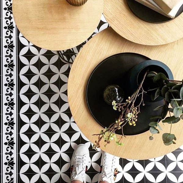 地墊 玄關墊 幾何形 磚紋 beija flor/Tile Flooring So4 (60×80)