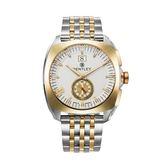 【BENTLEY】賓利 Solstice系列 黑暗紳士手錶 (白面/白金鋼帶 BL1681-50777)