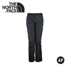 【The North Face 女 抗UV彈性防風長褲《瀝灰》】A6AY/保暖褲子/防潑水/內刷毛