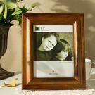 複古創意 歐式美式6寸7寸8寸10寸12寸木質相框擺台實木挂牆