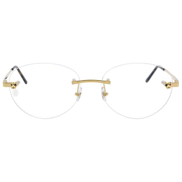 Cartier 卡地亞 CT0028O 002 (金) 美洲豹 無框 近視眼鏡 久必大眼鏡