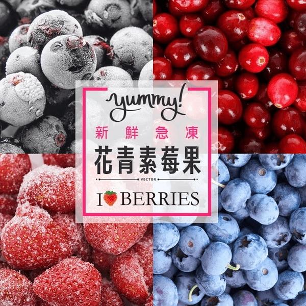 進口新鮮急凍花青素冷凍莓果 藍莓/蔓越莓/黑醋栗/草莓 400g/包 (可任選) SGS檢驗證明