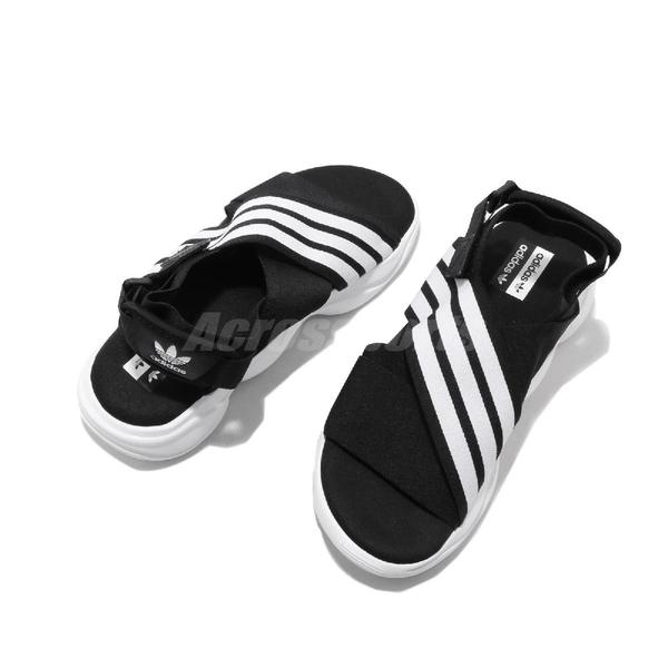 adidas 涼鞋 Magmur Sandal W 黑 白 女鞋 魔鬼氈 涼拖鞋 彈性綁帶【ACS】 EF5863