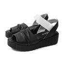 The FLEXX 涼鞋 黑/白 厚底 女鞋 E2517_06 no009