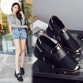 現貨增高鞋 運動鞋女2019新款休閒一腳蹬韓版時尚學院風單鞋女內增高女鞋子 特惠3-29