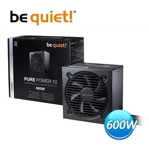 【台中平價鋪】全新Be quiet! Pure Power 10 (L10) 600W銀牌 電源供應器
