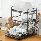 瀝水架 廚房多功能放碗架瀝水架晾碗架家用水杯碗碟筷刀具砧板收納置物架 【夏日新品】