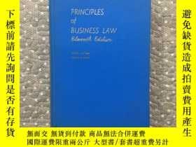 二手書博民逛書店PRINCIPLES罕見OF BUSINESS LAWY177057