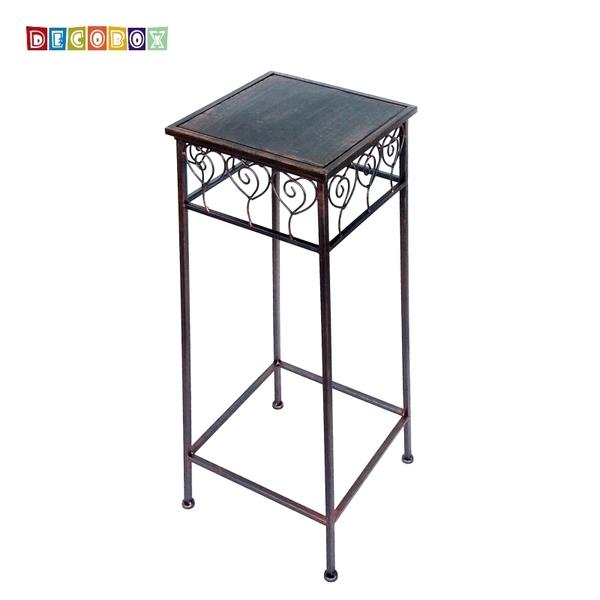 DecoBox心語古銅方形中花架 (多肉花架,羅馬柱,走道花鐵架,展示架)