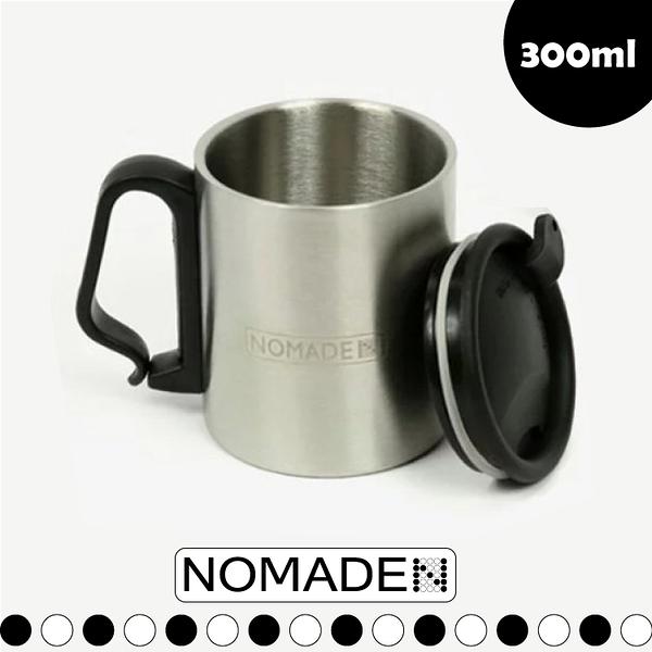 【NOMADE 加蓋真空雙層馬克杯 300ml】N5481/戶外野餐/野營/不鏽鋼杯/保冷保溫