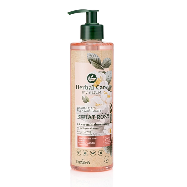 Herbal Care 大馬士革玫瑰玻尿酸溫和潔膚水 #62878