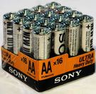 SONY碳鋅3號電池16入