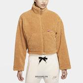 NIKE 外套 NSW SHERPA 卡其 羊羔毛 短版 休閒 女(布魯克林) CU6640-201