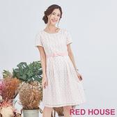 Red House 蕾赫斯-透敷點點洋裝(共2色)