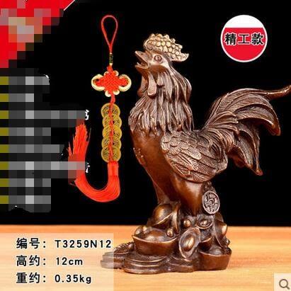 純銅雞擺件大號 銅公雞金雞元寶雞家居客廳裝飾工藝品擺件