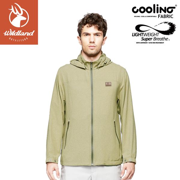 【Wildland 荒野 男 可溶紗環保吸排透氣外套《芥末黃》】0A81910/防曬夾克/防潑水薄外套/運動外套