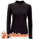 【Wildland 荒野 女款 遠紅外線彈性保暖衣 黑】W2651/保暖衣/高領內搭/內搭/內層衣